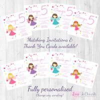 Fairy Princess Party Invitations & Thank You Cards