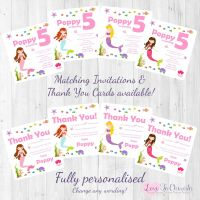 Mermaid Under The Sea Party Invitations & Thank You Cards