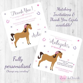 Horse Riding Invitations & Thank You Cards