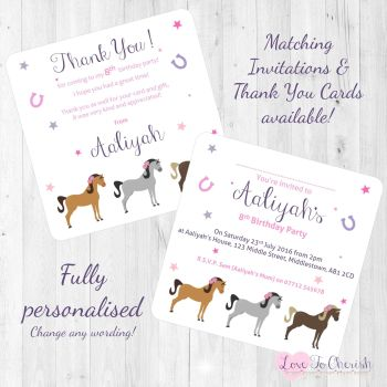Horses Trio Invitations & Thank You Cards