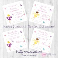 Fairy with Magical Wand Party  Invitations & Thank You Cards