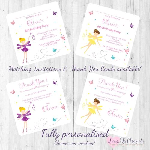 Fairy with Magical Wand Invites