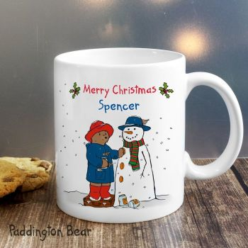 Paddington Bear Christmas Snowman Mug