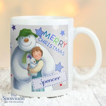 The Snowman and The Snowdog Blue Christmas Mug