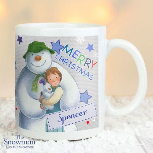 The Snowman and The Snowdog Blue Christmas Mug