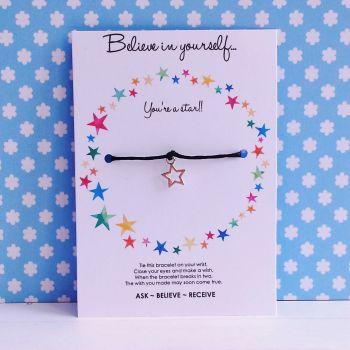 Believe In Yourself Wish/Friendship Bracelet