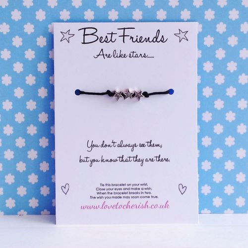 Best Friends Are Like Stars Wish/Friendship Bracelet