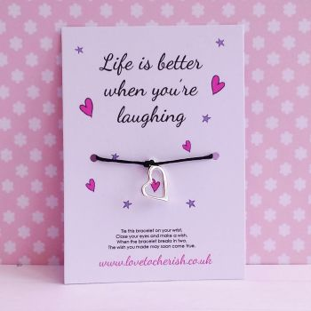 Life Is Better When You're Laughing - Wish/Friendship Bracelet