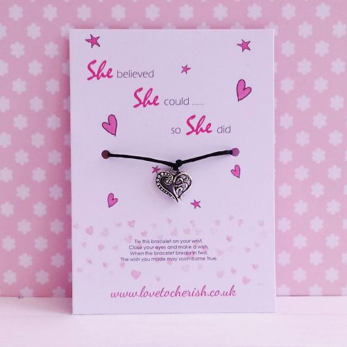 She Believed She Could So She Did - Wish/Friendship Bracelet
