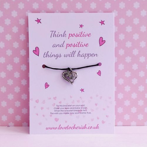 Think Positive and Positive Things Will Happen - Wish/Friendship Bracelet