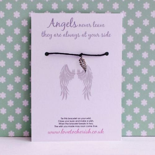 Angels Never Leave They Are Always By Your Side Wish/Friendship Bracelet