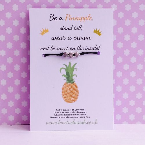 Be A Pineapple, Stand Tall, Wear A Crown... - Wish/Friendship Bracelet