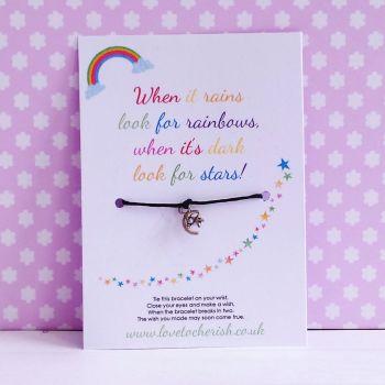 When It Rains, Look For Rainbows, When It's Dark, Look For Stars - Wish/Friendship Bracelet