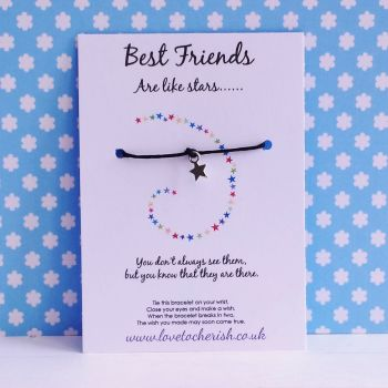 Best Friends Are Like Stars - Star Bracelet - Wish/Friendship Bracelet