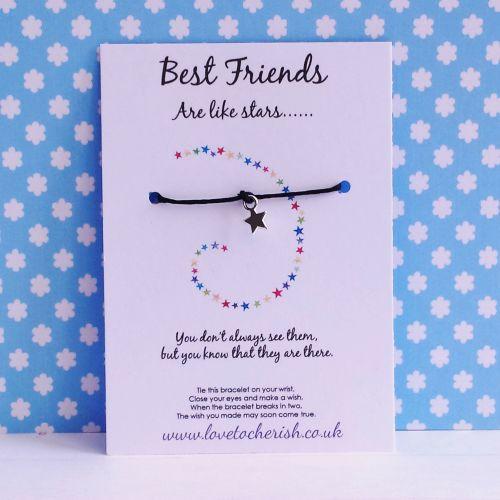 Best Friends Are Like Stars Wish/Friendship Bracelet