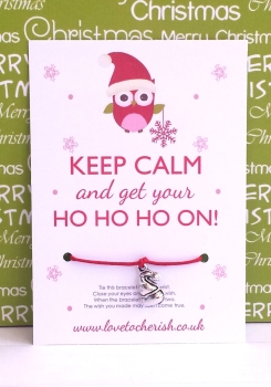Keep Calm and get your Ho Ho Ho On! Wish Bracelet