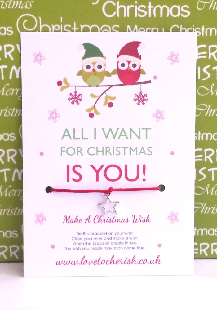 All I Want For Christmas Is You! Christmas Owls Wish Bracelet