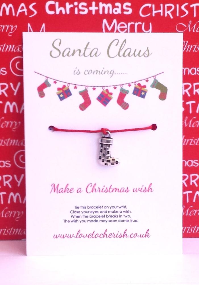 Santa Claus is coming..... Wish Bracelet