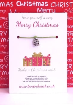 Have yourself a very Merry Christmas Wish Bracelet