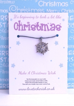 It's beginning to look a lot like Christmas Wish Bracelet