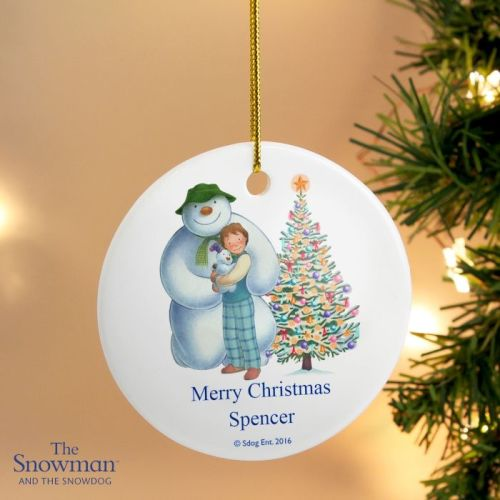 The Snowman and The Snowdog Ceramic Round Decoration