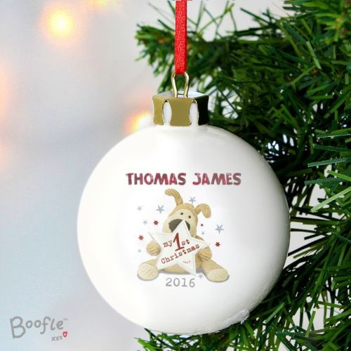 Boofle 'My 1st Christmas' Ceramic Bauble Decoration