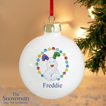 The Snowdog Ceramic Bauble Decoration