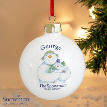 The Snowman and The Snowdog Ceramic Bauble Decoration