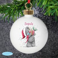 Me To You Christmas Present Ceramic Bauble