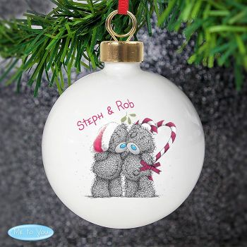 Me To You Christmas Couples Ceramic Bauble