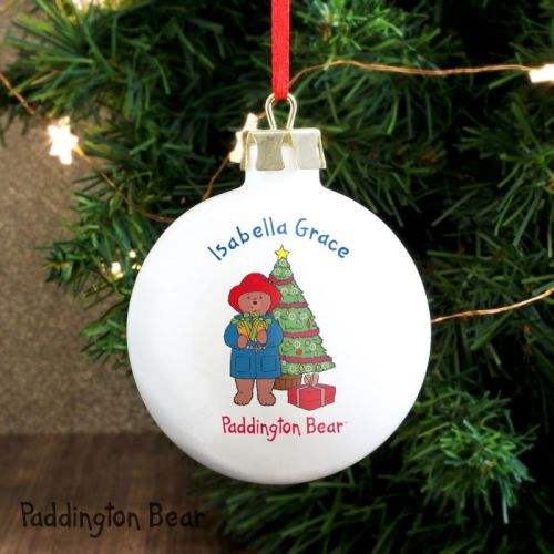 paddington bear christmas tree ceramic bauble decoration - Bear Christmas Decorations