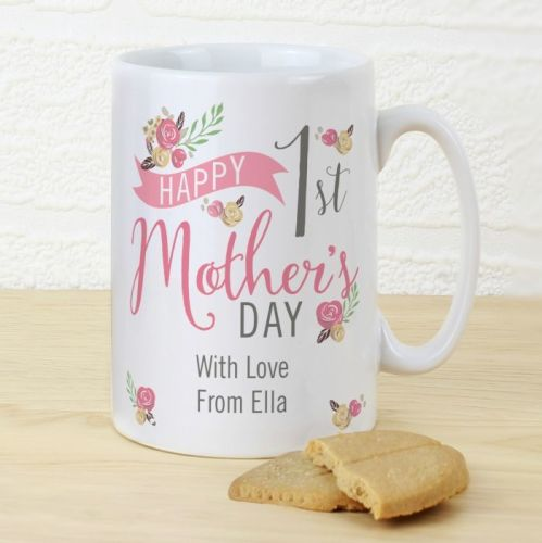 Floral Bouquet 1st Mother's Day Slim Mug