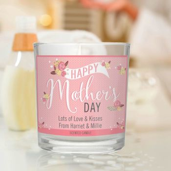 Floral Bouquet Mother's Day Scented Jar Candle