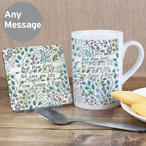 Botanical Slim Mug & Coaster Set