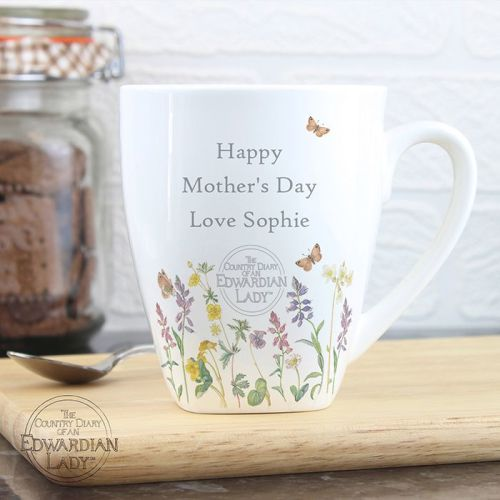 Country Diary Wild Flowers Latte Mug
