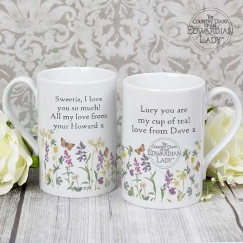 Country Diary Wild Flowers Slim Mug