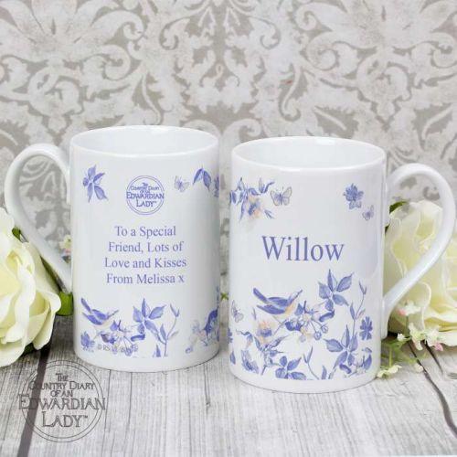 Country Diary Blue Blossom Slim Mug