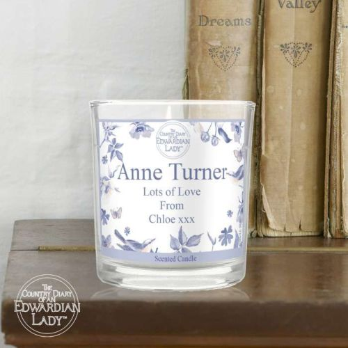 Country Diary Blue Blossom Scented Jar Candle