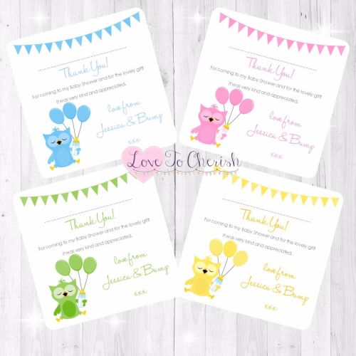 Cute Owl Baby Shower Design
