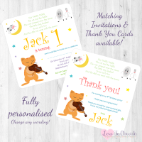 <!-- 001 -->Hey Diddle Diddle Nursery Rhyme Invitations & Thank You Cards