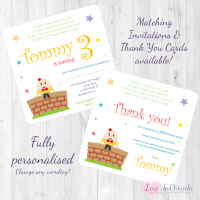 <!-- 003 -->Humpty Dumpty Nursery Rhyme Invitations & Thank You Cards