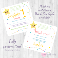 <!-- 008 -->Twinkle Twinkle Little Star Nursery Rhyme Invitations &amp; Thank You Cards
