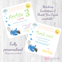 <!-- 004 -->Incy Wincy Spider Nursery Rhyme Invitations & Thank You Cards