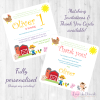 <!-- 006 -->Old MacDonald Nursery Rhyme Invites &amp; Thank You Cards