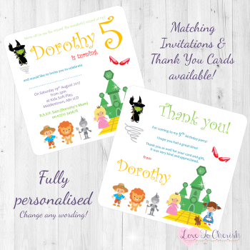 The Wonderful Wizard of Oz Fairytale Invites & Thank You Cards