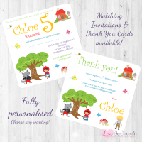 <!-- 011 -->Little Red Riding Hood Fairytale Invitations & Thank You Cards