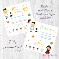 <!-- 012 -->Alice's Adventures in Wonderland Fairytale Invitations & Thank You Cards