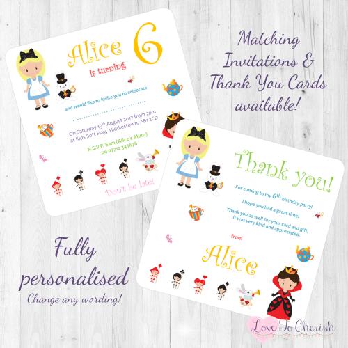 <!-- 012 -->Alice's Adventures in Wonderland Fairytale Invites & Thank You