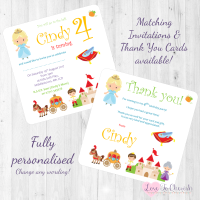 <!-- 013 -->Cinderella Fairytale Invitations & Thank You Cards