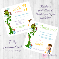 <!-- 014 -->Jack &amp; The Beanstalk Fairytale Invites &amp; Thank You Cards